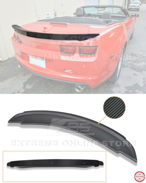 ZL1 Style Rear Wing Spoiler & CARBON FIBER WickerBill Insert For 10-13 Camaro