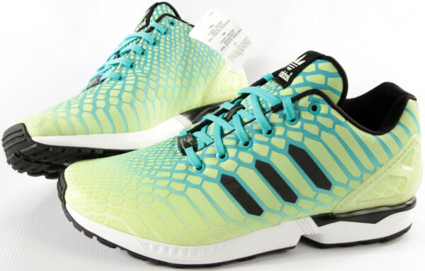 ADIDAS Originals ZX FLUX Xeno shoes-NEW-classic GLOW retro running sneakers-$130