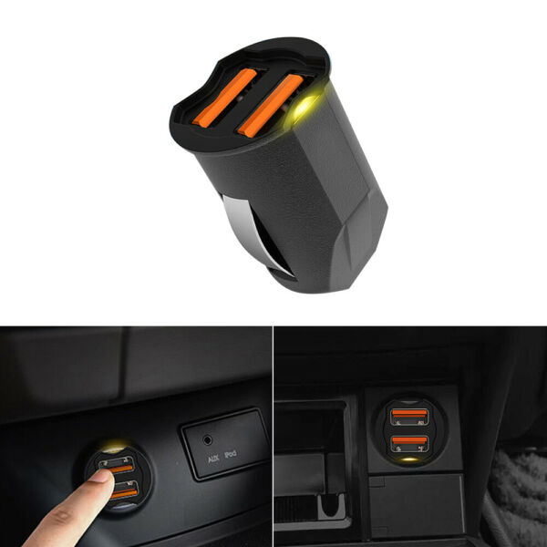 2.1A Mini Dual USB Car Charger Adapter 2 Ports 12V-24V Cigarette Socket Lighter