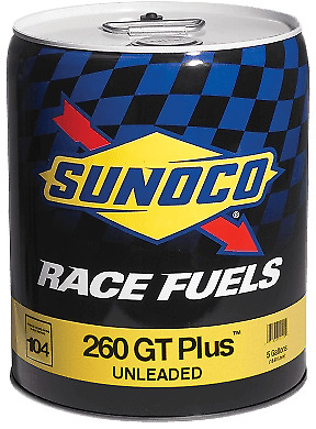 Sunoco 260 GT Plus 104 Octane Race Fuel 5 Gallon Pail  Speed Tech