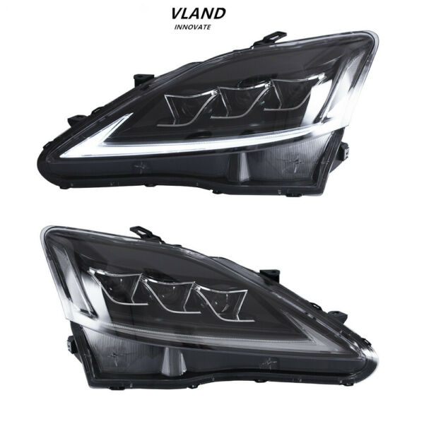 For 2006 2013 Lexus IS 250 350 ISF LED Headlights Assembly