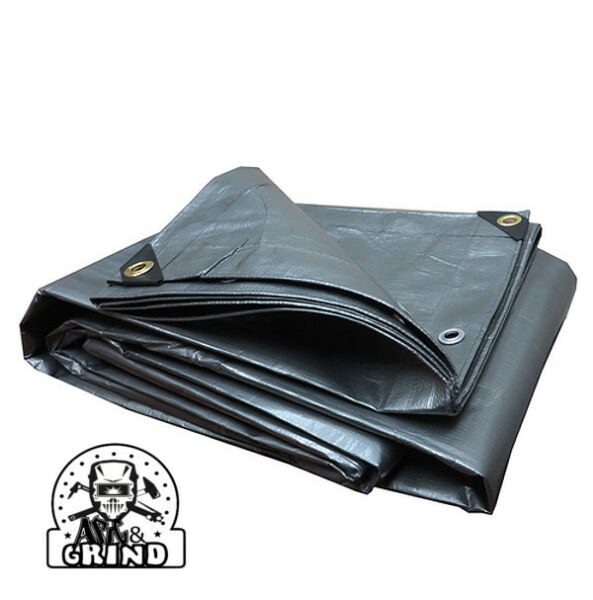SILVER PREMIUM 14 MIL REINFORCED EXTREME HEAVY DUTY POLY TARP CHOOSE YOUR SIZE $67.37