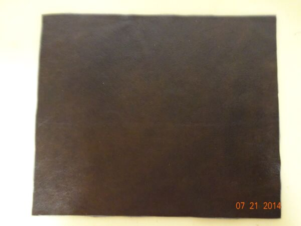 Scrap Leather Genuine cowhide Brown Very Nice 10  x 12  inches  1 piece New!!