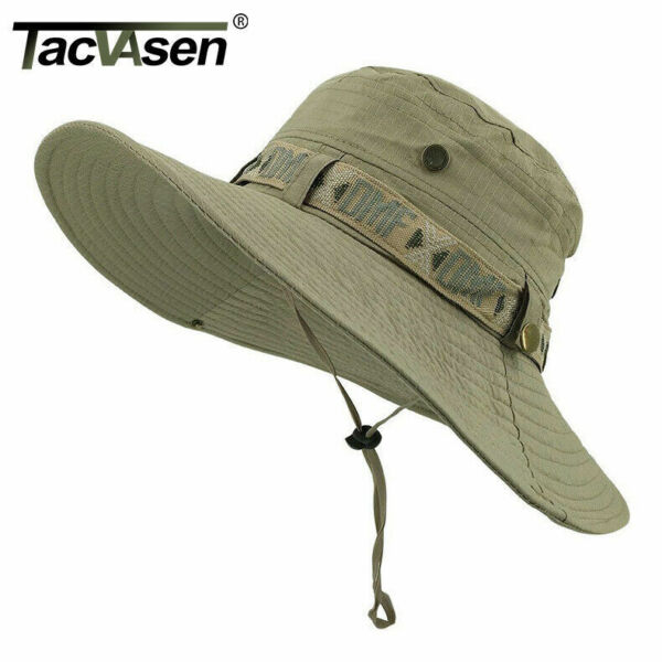 Anti UV Tactical Sniper Hat Boonie Army Caps Military Hunting Wide Brim Buckets