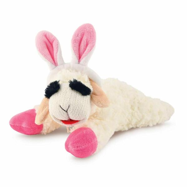 Multipet Lamb Chop with Bunny Ears Dog Toy Mini 6