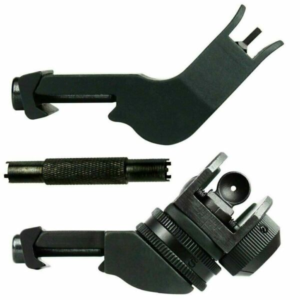 Front Rear 45 Degree Offset Rapid Transition BUIS Backup Iron Sight Set - Tool