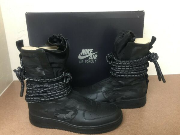Nike Air Force 1 SF High Special Field Sneakerboots Black AA1128-002 Size 12