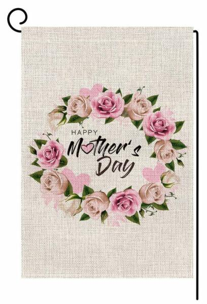 Happy Mothers Day Floral Small Garden Flag Vertical Double Sided 12.5 X 18 Inch