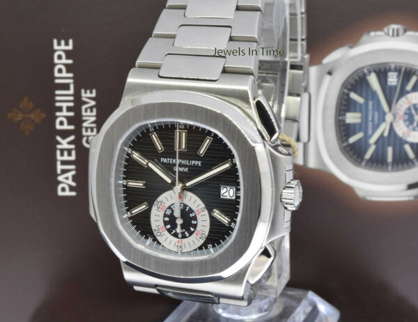 ** Patek Philippe Nautilus 5980 Chronograph Steel Watch BoxPapers 59801A **