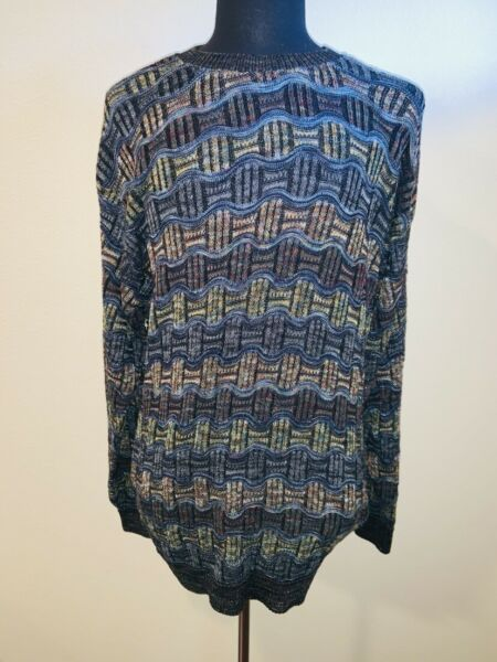 Tundra Canada 3 D Cotton Blend Sweater Cosby Biggie Coogi Like Sz Large $20.00