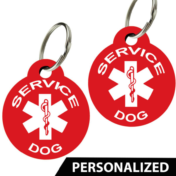 Service Dog ID Tags Pet Tags Dog Tags Personalized Set of 2 $4.95