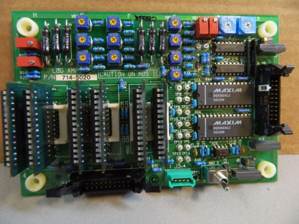 LOG AMP BOARD PN: 714-5020 FOR USE WITH HITACHI 917 AND 7180 CHEMISTRY ANALYZER