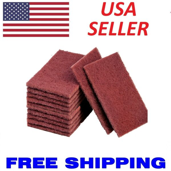 10pcs Scouring Pads - Compare to 3M Scotch-Brite General Purpose Hand Pad 7447