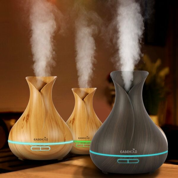 400ML LED Ultrasonic Humidifier Cool Air Purifier Essential Oil Aroma Diffuser