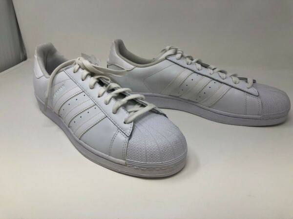 New! w/defect Men's adidas Superstar Foundation Casual Sneakers White C38