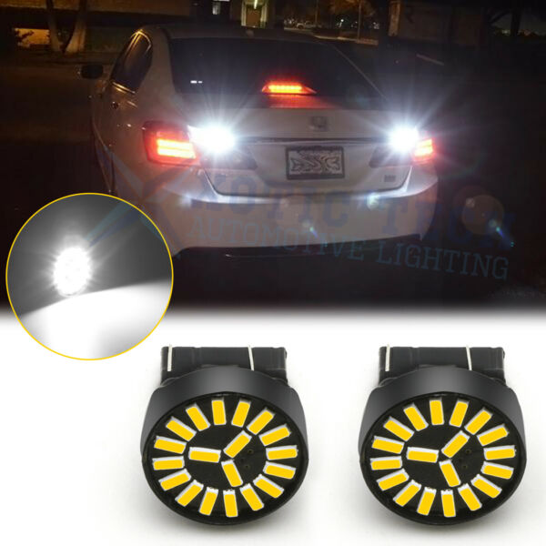 For Honda Accord Civic CRV FIT 2008-12 7440 White LED Backup Reverse Light Bulbs