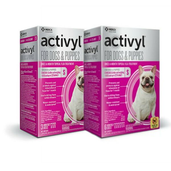 Activyl Topical Flea Treatment for Small Dogs 14-22lbs (2 sizes 3pk or 6pk)