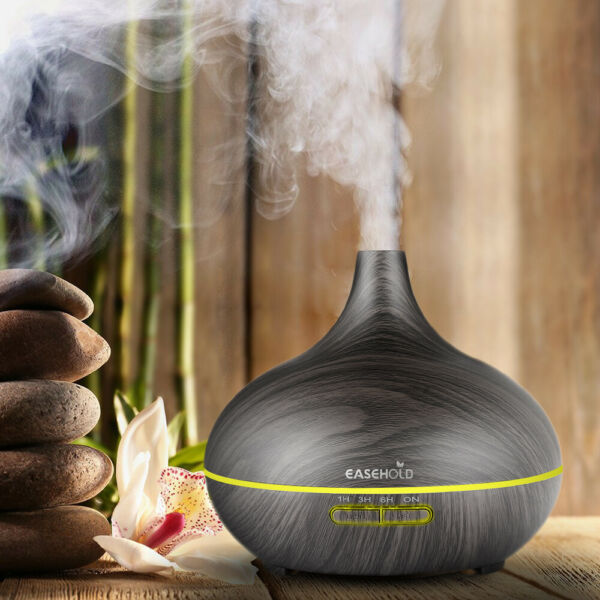 300ML LED Ultrasonic Humidifier Cool Air Purifier Essential Oil Aroma Diffuser