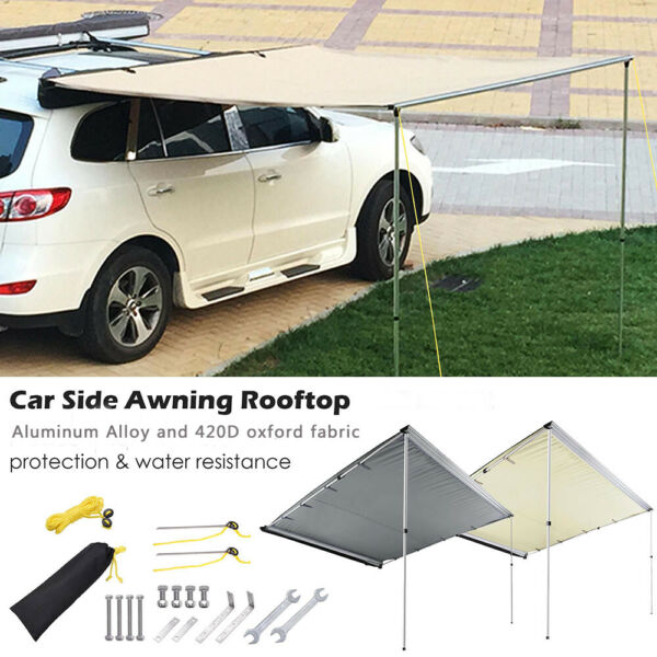 Awning Rooftop Car SUV Truck Shelter Tent Outdoor Camping Travel Sunshade Canopy $179.90