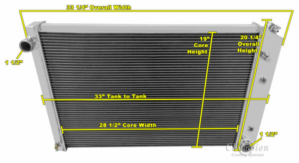 1973-1991 Chevy K5 Blazer Champion Aluminum 3 Row Radiator 2-14