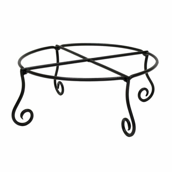 Achla Designs Piazza Flower Pot Plant Stand Large Wrought Iron Black Finish New