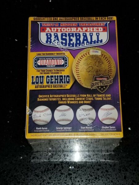 TRISTAR Hidden Treasures Autographed Baseball - Purple Box - BRAND NEW