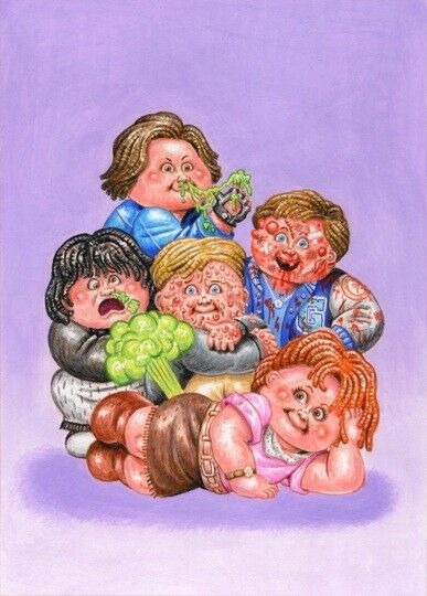 COLOR ROUGH Garbage Pail Kids: We Hate The 80s - The Breakfast Club