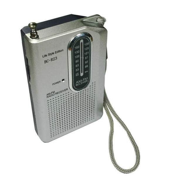 INDIN Mini Bc-R23 Am Fm Radio Receiver Pocket Portable Battery Operated Mus R1U9