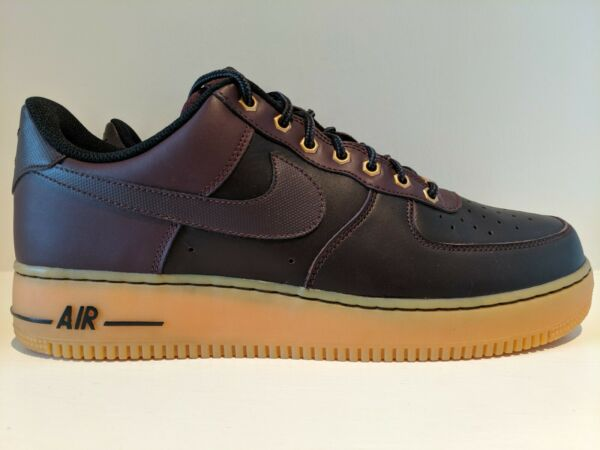NEW 2014 Nike Air Force 1 Low Deep Burgundy Gum Brown Size 12 488298 621