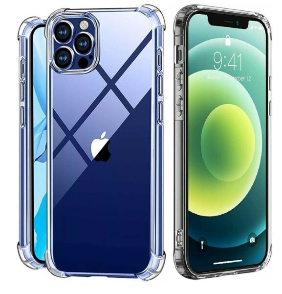 For iPhone 11 12 X XS Max 6 6s 7 8 Plus Clear Shockproof Protective Cover Case $3.95