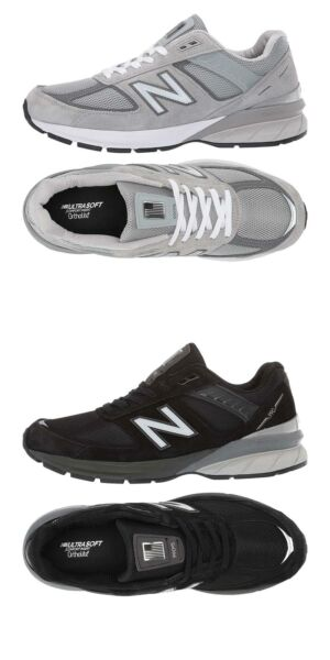 New Balance Men's Athletic Sneakers 990V5 Running Lace-Up Shoes MADE IN USA