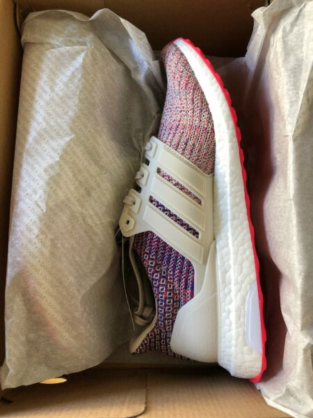 ultra boost Mens 9.5 Rare Pink Color Geometric Pattern Pink Continental Rubber