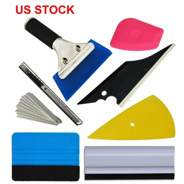 US Car Window Tint Tools Kit Scraper Squeegee for Auto Film Tinting Installation