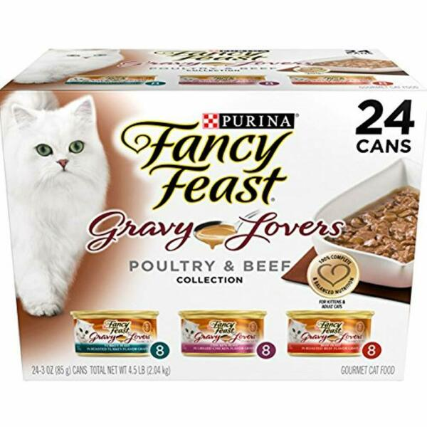Purina Fancy Feast Gravy Wet Cat Food Variety Pack Lovers Poultry