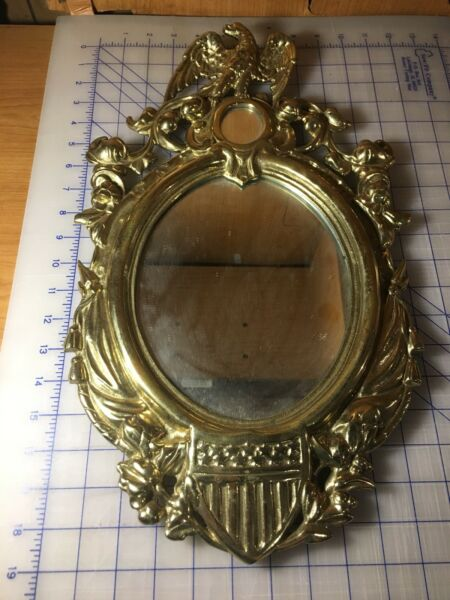 Antique Solid Brass Federal Shield Eagle Mirror 1862 —Best Price On eBay! —