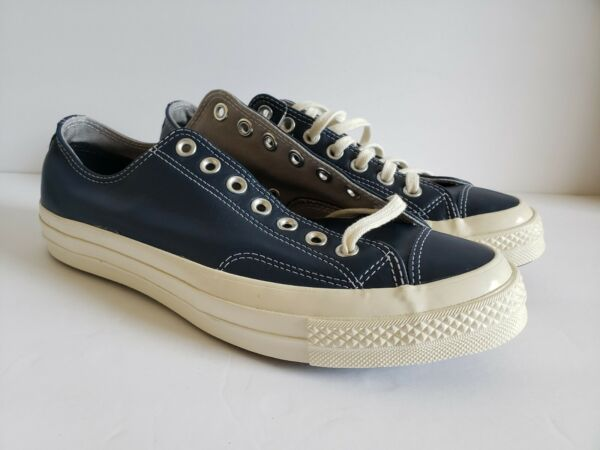 Converse Chuck Taylor All Star Low Top Blue Leather Mens 8.5 Women 10.5 Sneakers