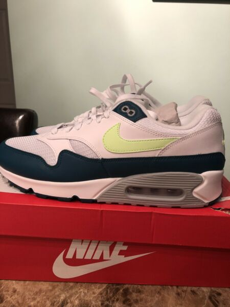 Nike Air Max 90/1  AJ7695-103 Spruce Lime Mens Shoes Size 11 New 100% Authentic