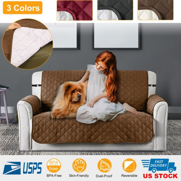Sofa cover Reversible Furniture ProtectorslipcoverWater ResistantCouchpet $25.81