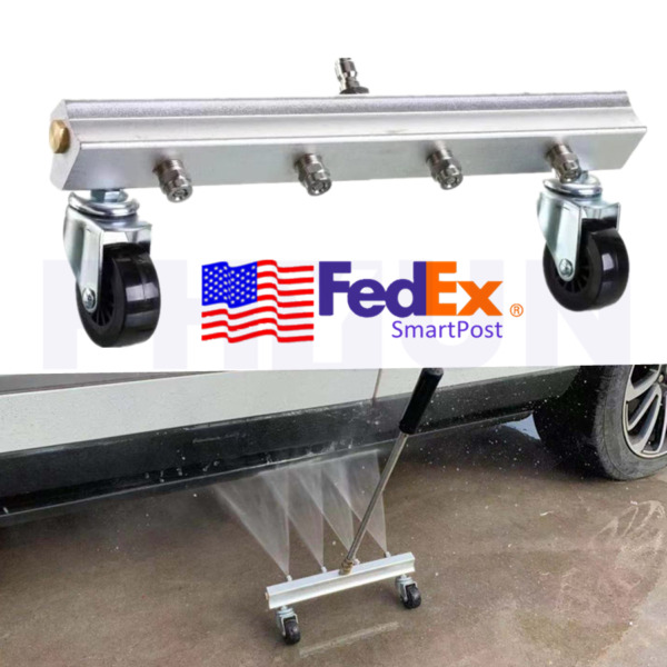 High Pressure Car Chassis Under Body Washer 4 Spray Nozzle Water Cleaning Gun US