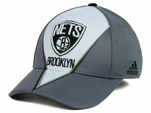 Brooklyn Nets Adidas NBA Slasher Flexfit Cap Hat Authentic & Brand New! Size S/M