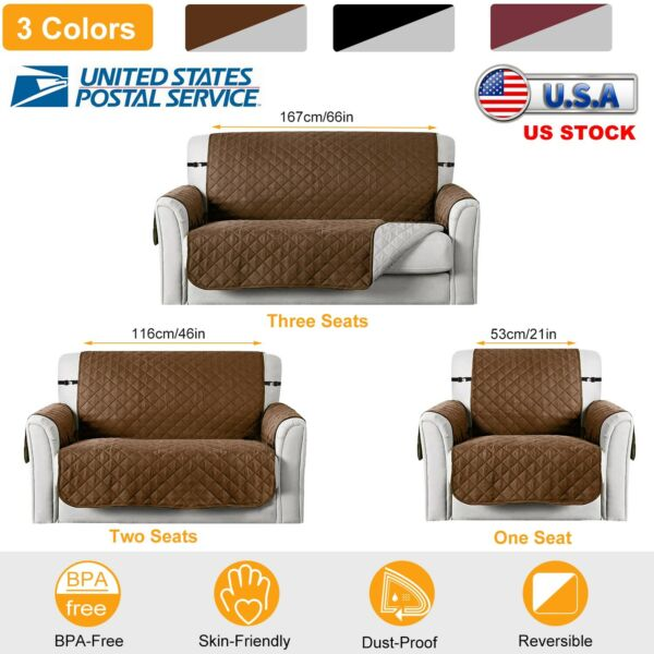 Sofa cover Reversible Furniture Protector slipcover Couch Washable US STOCK $25.81