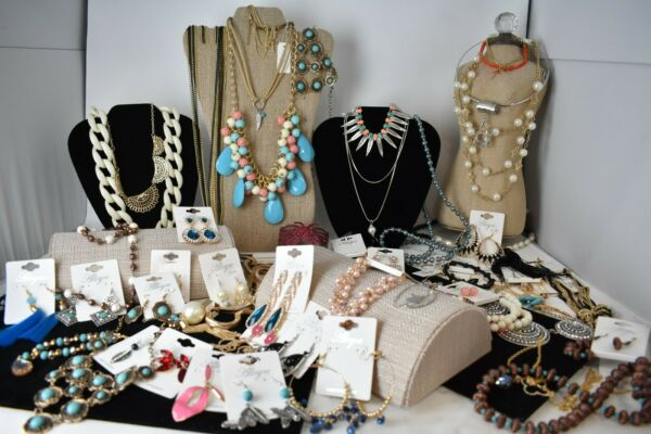 Brand New Mixed Lot of 20 Pc Fashion Jewelry - Necklaces Earrings