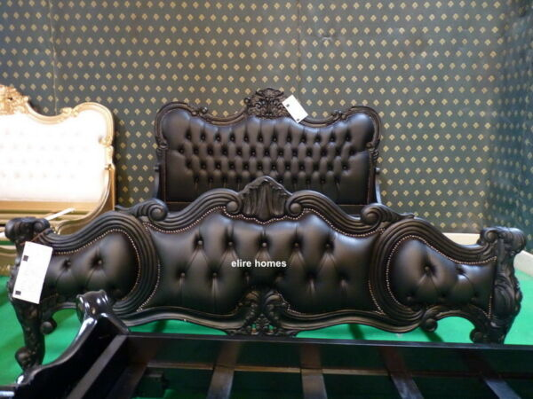 5ft King size Chatelet® Gothic Black French designer chesterfield baroque bed