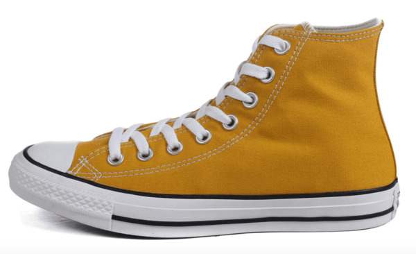 Converse Chuck Taylor All Star High Top Sneakers, Gold Dart Yellow
