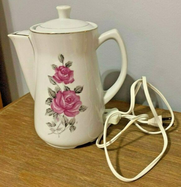 Vintage Royal Sealy Electric Immersion Tea Coffee Pot Japan EUC with tags amp; cord $14.99