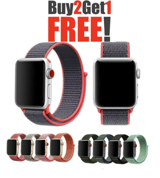 Woven Nylon Band For Apple Watch Sport Loop iWatch Series 4321 38424