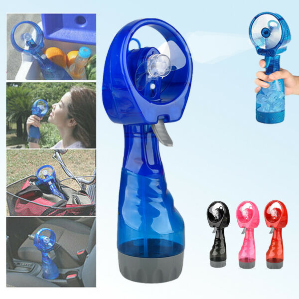 Fine Water Mist Spray Bottle Cooling Fan Portable Handheld Facial Mister Cool US