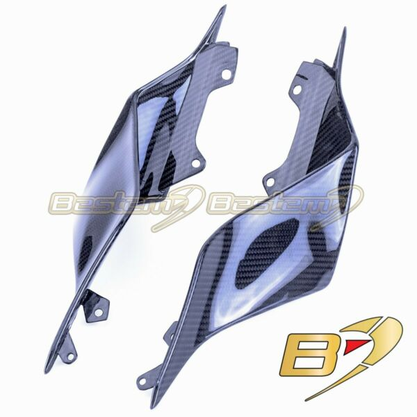 2017 2020 Yamaha R6 Carbon Fiber Tail Side Trim Cover Twill Weave Pattern $419.85