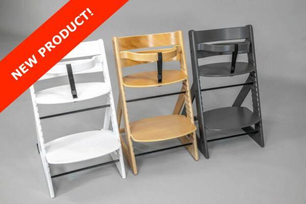 Wooden Adjustable High Chair for Babies Toddlers Children and Adults