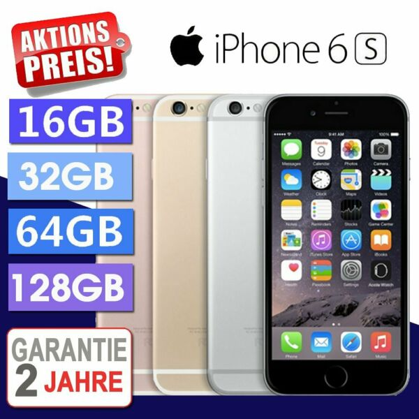 ☀️Apple iPhone 6S 16GB 64GB Smartphone Spacegrau / Silber / Gold / Rosegold NEU